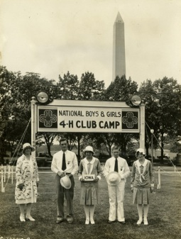 1929 National 4-H Camp Delegation from Iowa