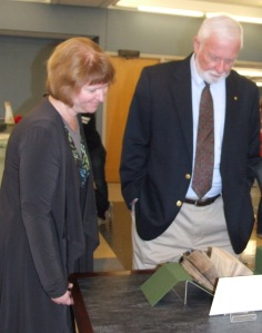 Tanya has worked with numerous donors to bring in rare books and archival collections.  Shown above is the Robert R. Harvey Rare Book Open House.  Professor Emeritus Robert Harvey donated over ninety volumes of his amazing landscape architecture books.
