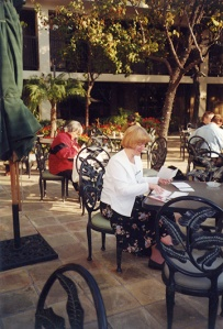 Tanya at the Association of Moving Image Archivists conference in 2000.