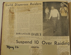 Page from the scrapbook describing the Pixies' raid.