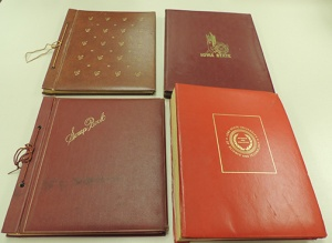 Scrapbooks from the Cardinal Guild Records.