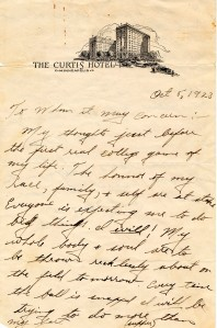 Jack Trice letter.  Special Collections Department, Iowa State University.