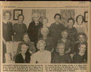 Serendipity Club members in 1963. Ames Tribune, April 9, 1963.