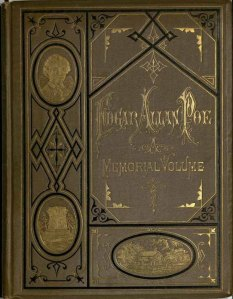 Front book cover bound in brown cloth with black and gold stamping, showing the use of the diagonal and asymmetrical design.