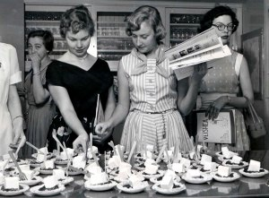 Making pies for VEISHEA, 1954