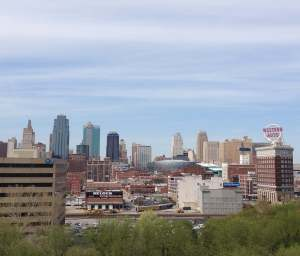 Our hotel room had a lovely view of the Kansas City, though we spent most of our time in conference rooms