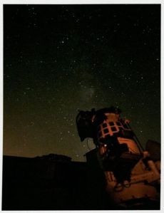 "A photo of the Mather telescope. ""Splendor of the Iowa Skies"" calendar, RS 13/20/6"