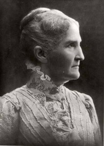 Portrait of Mary Beaumont Welch, wife of Iowa State College President Adonijah Welch. Undated photograph circa early 1900s.