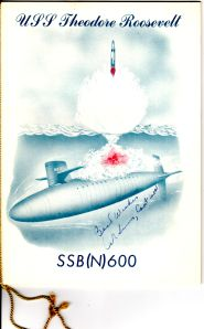A program introducing a new nuclear submarine, the U.S.S. Theodore Roosevelt (from box 2, folder 23)