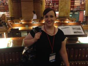 Yours truly in the Library of Congress reading room.