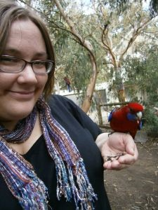 Kim with Rosella