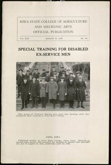 "Cover of Bulletin entitled ""Special Training for Disabled Ex-Service Men"""