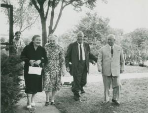 Khrushchevs and Garsts on the farm