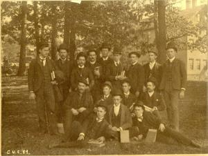 A photo of the engineers of the Class of 1889, Cornell University. RS 11/1/11, box 15, folder 2.