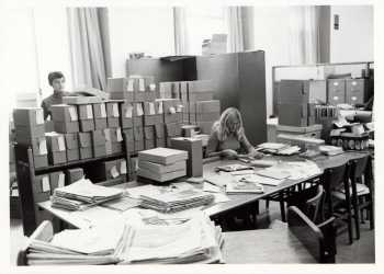 Special Collections staff hard at work, RS 25