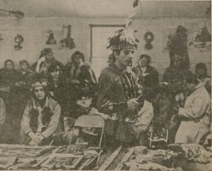 Members of White Roots of Peace, a traveling American Indian interest group, participated in the 1973 Symposium on the American Indian