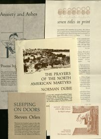 Several advertisements for new works by the Penumbra Press, circa 1976-1980.