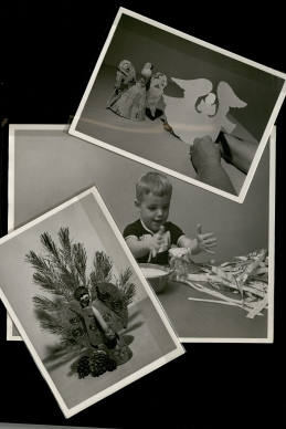 Photographs of paper mâché and ornament crafts. (MS 162, box 4, folder 6)