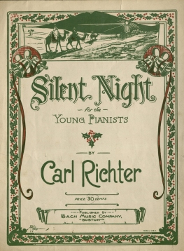 """Silent Night for the Young Pianists"" by Carl Richter, 1918. (MS 474, Box 1, Folder 55)"
