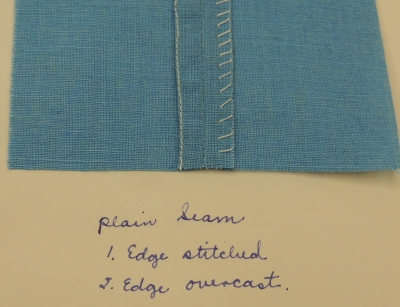 Plain seams. (RS 21/7/228 box 4, folder 16)
