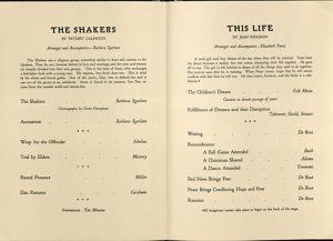 Inside of the program from the 1944 Barjche. RS 10/7/3, box 2, folder 11.