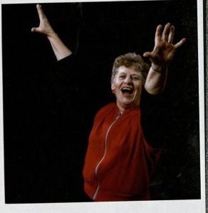 Betty Toman dancing, 1988. Betty Toman Papers, RS 10/7/51, box 4, folder 12.