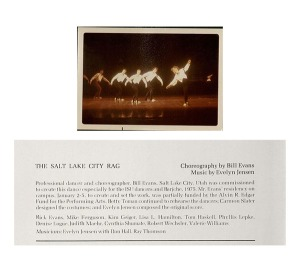 "Photograph and program for ""Salt Lake City Rag"" by Bill Evans, 1975. From RS 10/7/3 and RS 10/7/51."