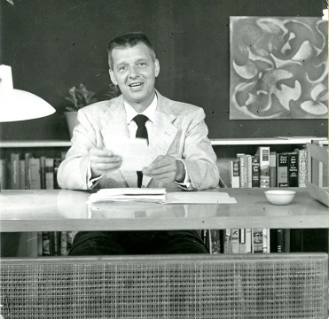 "Portrait of Ed Wegner, host of the WOI-TV program ""Televisits"" (RS 5/6/6)"
