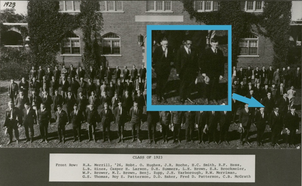 Class of 1923. Frederick D. Patterson at lower right. (University Photographs RS 21/6/D)