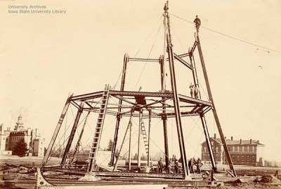 Progress on the water tower, March 22, 1897.