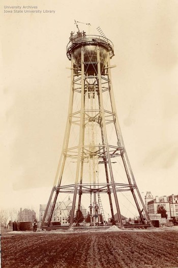 Construction begins on tank itself, April 22, 1897.