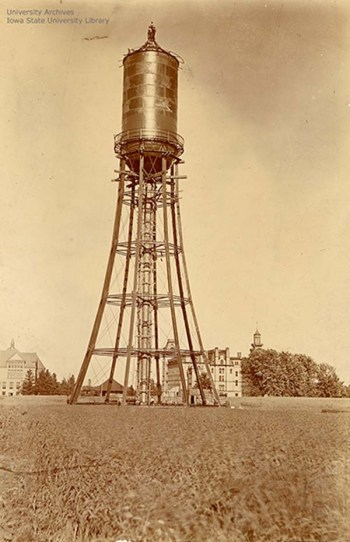Construction nearly completed on the water tower, July 6, 1897.
