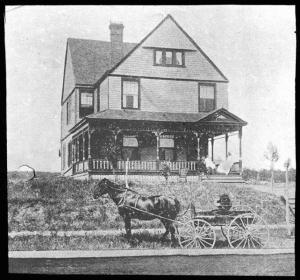 House of S. B. Green, St. Anthony Park, Minnesota, before planting, undated.