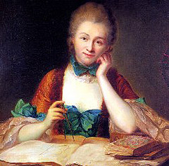 """Gabrielle du Châtelet (1706-1749)."" Image courtesy of Mathematical Association of America, licensed under CC BY-ND 2.0."