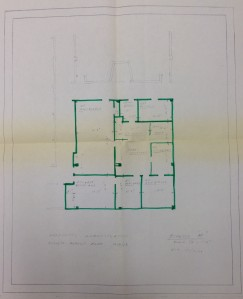 One of four sketches of plans for Physiology Administration, 1969. RS 4/1/8, map case.