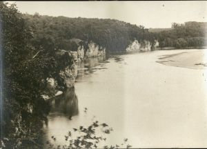 Photo of Palisades on the Cedar River in Linn County, later Palisades-Kepler State Park, Box 51, Folder 4a.