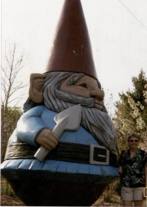 Elwood the garden gnome. (RS 5/7/3/0/5  box 2, folder 5)
