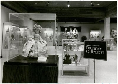 Doll Collection exhibit at Brunnier Art Museum, Iowa State University, unknown date. University Photograph Collection, RS 5/8/A,D, Box 433.