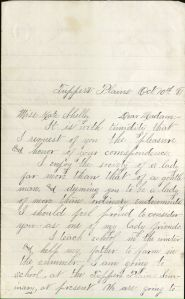 Letter from J. M. Noble to Kate Shelley, MS 684, Box 1, Folder 22. (Click image to enlarge.)