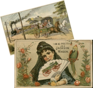 Advertisement cards from Jackson Wagons, undated. (RS 21/7/227, box 11, folder 43)