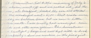 Snippet of Horton's 1953 diary. Click for full page. (MS 183, box 3)