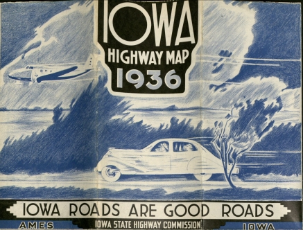 1936 Iowa Highway Map (MS 186, box 2)