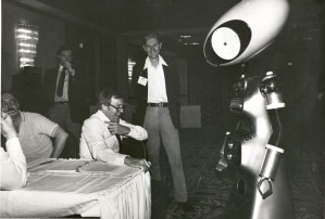 I want to know why there is a robot in this photo as much as you do. Agri-Marketing Conference, 1981 or 1982. Box 41, Folder 18.