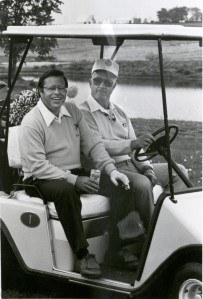 Enjoying a golf outing at the 1984 Agri-Marketing Conference. Box 41, Folder 24.