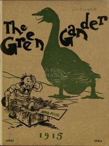 Cover of the first issue of The Green Gander, April 1915.