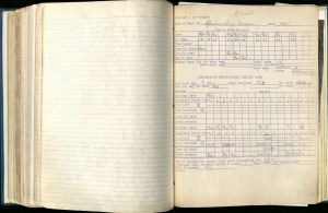 Page from vol. 1 of Frederic Leopold's wood duck nesting records, 1951. MS 113, Box 9, Folder 1.