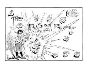 Title page for the 1895 Bomb, the yearbook for the Iowa State College (University).