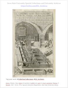 Vittorio Zonca's Novo Teatro di Machine et Edificii… Call number: TJ144 .Z75n