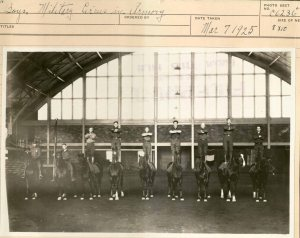 Boys, Military Service in Armory, March 7, 1925 (University Photographs box 1112)