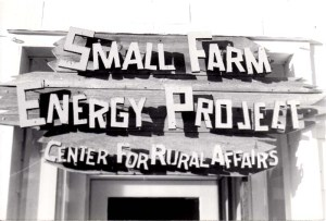 Small Farm Energy Project Sign. From MS 413, box 106, folder 20.
